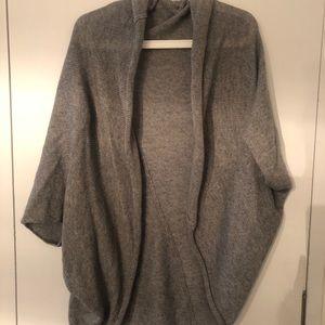 Grey Knit Cape Sweater